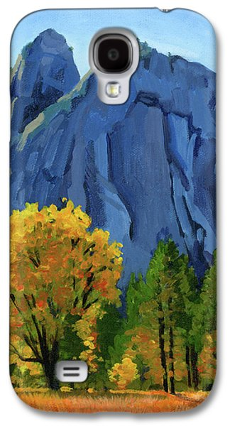 Park Scene Paintings Galaxy S4 Cases - Yosemite Oaks Galaxy S4 Case by Alice Leggett