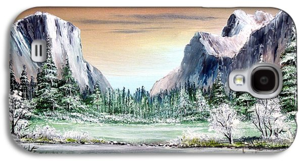 El Capitan Paintings Galaxy S4 Cases - Yosemite Valley Artist Point Galaxy S4 Case by Bill Holkham