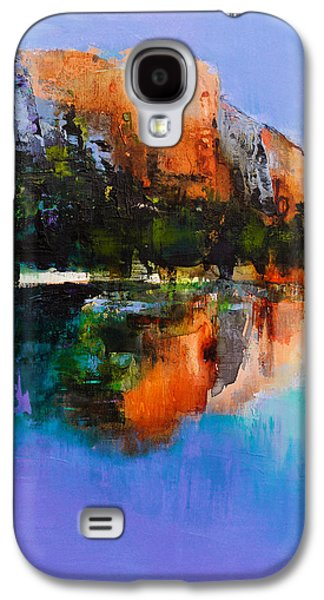 River View Paintings Galaxy S4 Cases - Yosemite Valley Galaxy S4 Case by Elise Palmigiani