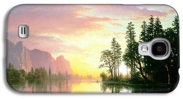 Californian Galaxy S4 Cases - Yosemite Valley Oil On Canvas Galaxy S4 Case by Albert Bierstadt