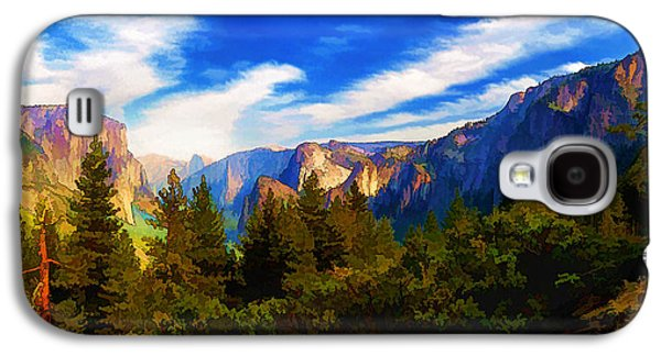 Photo Manipulation Galaxy S4 Cases - Yosemite Valley - Painterly Galaxy S4 Case by Bill Caldwell -        ABeautifulSky Photography