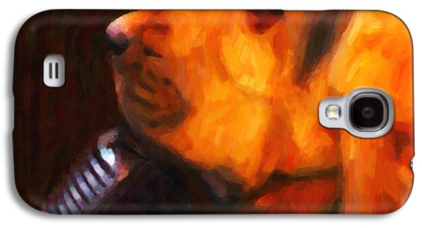 Fuzzy Digital Art Galaxy S4 Cases - You Aint Nothing But A Hound Dog - Dark - Painterly Galaxy S4 Case by Wingsdomain Art and Photography