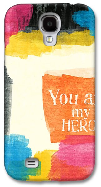 Sisters Galaxy S4 Cases - You Are My Hero- colorful greeting card Galaxy S4 Case by Linda Woods