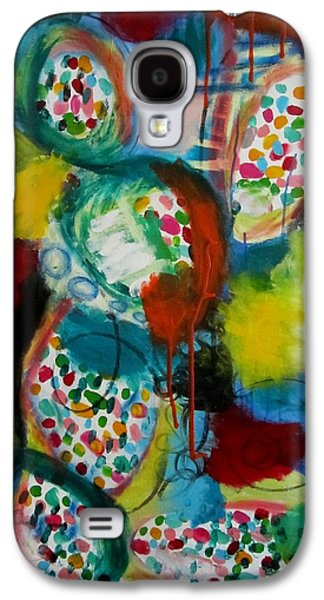 Colorful Abstract Sculptures Galaxy S4 Cases - You cant say I didnt try. Galaxy S4 Case by Robin  Kalinich