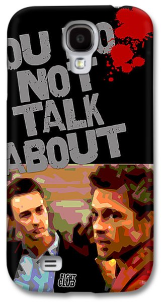 Fight Digital Art Galaxy S4 Cases - You Do Not Talk About Fight Club Galaxy S4 Case by Douglas Simonson