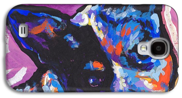 Cattle Dog Paintings Galaxy S4 Cases - You Heel Me Galaxy S4 Case by Lea