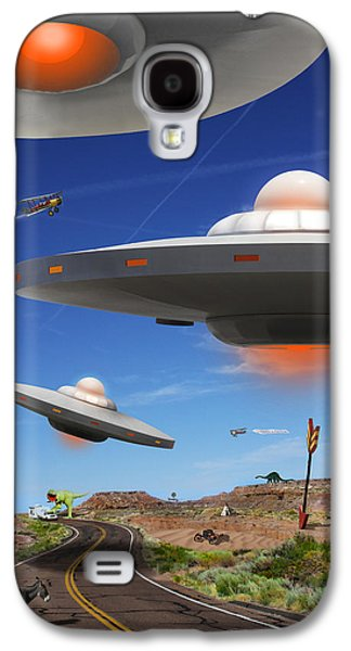 Donkey Digital Art Galaxy S4 Cases - You Never Know What You will See On Route 66 Galaxy S4 Case by Mike McGlothlen