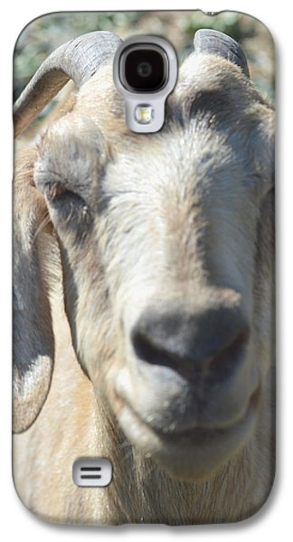 Goat Digital Art Galaxy S4 Cases - You Old Goat Galaxy S4 Case by Barbara Snyder