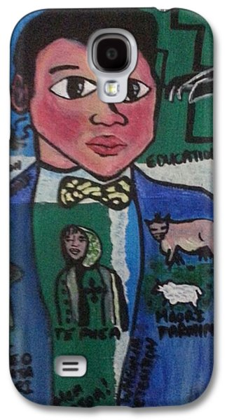 Etc. Paintings Galaxy S4 Cases - Young Apirana Ngata Galaxy S4 Case by Hori Kiwara