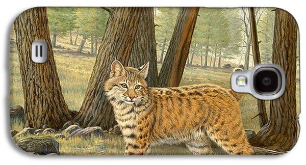 Bobcats Galaxy S4 Cases - Young Bobcat    Galaxy S4 Case by Paul Krapf
