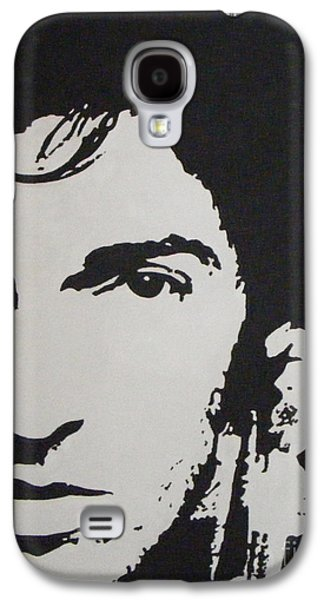 Bruce Springsteen Paintings Galaxy S4 Cases - Young Boss Galaxy S4 Case by ID Goodall