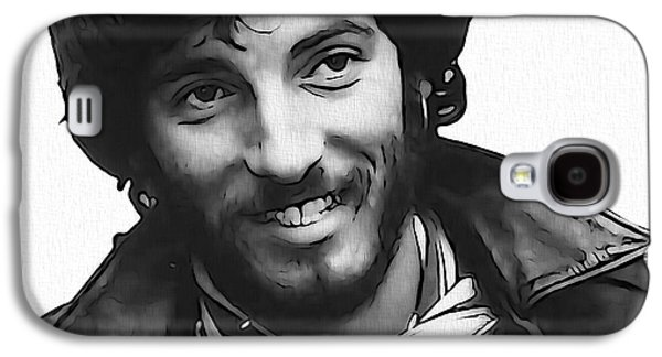 Bruce Springsteen Digital Galaxy S4 Cases - Young Bruce Springsteen Galaxy S4 Case by Dan Sproul