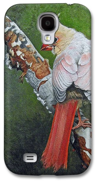 Young Birds Galaxy S4 Cases - Young Cardinal  Galaxy S4 Case by Ken Everett