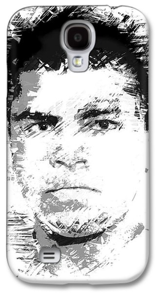 Heavyweight Digital Galaxy S4 Cases - Young Cassius Clay Galaxy S4 Case by Daniel Hagerman