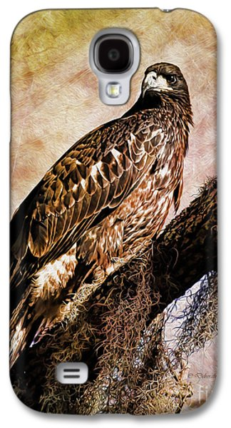 Young Birds Galaxy S4 Cases - Young Eagle Pose II Galaxy S4 Case by Deborah Benoit