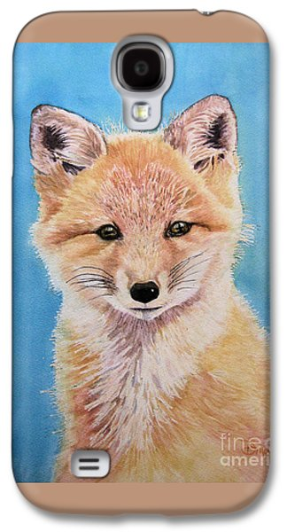 Fox Kit Paintings Galaxy S4 Cases - Young Fox Galaxy S4 Case by Diane Marcotte