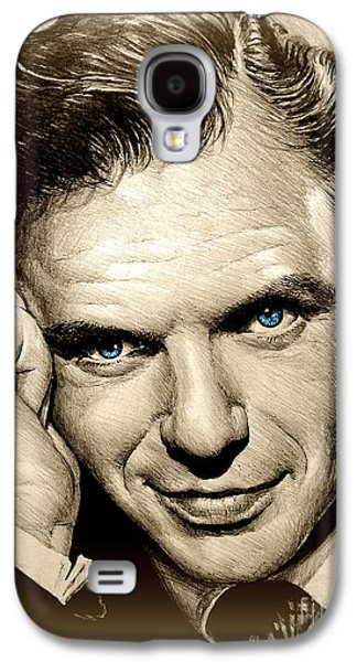 Smiling Mixed Media Galaxy S4 Cases - Young Frank blue eyes Galaxy S4 Case by Andrew Read