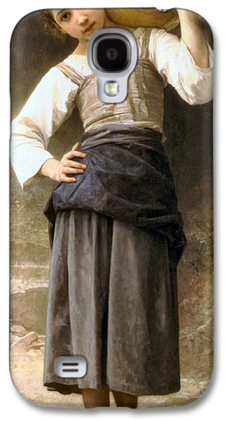 Water Jug Galaxy S4 Cases - Young Girl Going to the Fountain Galaxy S4 Case by William Bouguereau