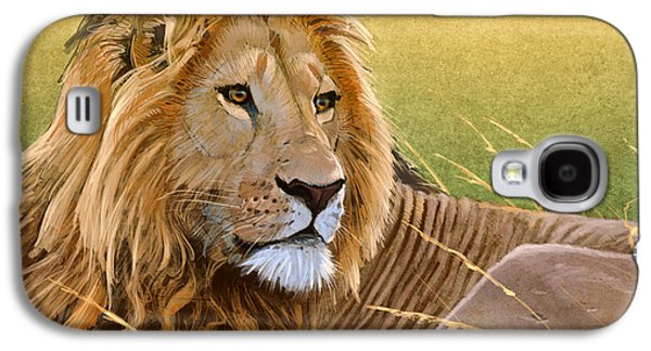 Digital Galaxy S4 Cases - Young Lion Galaxy S4 Case by Aaron Blaise