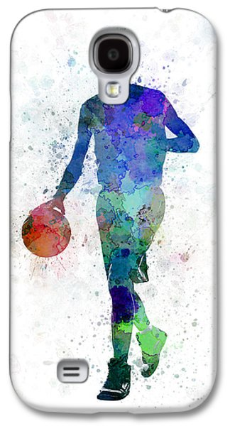 Young Man Basketball Player Dribbling  Galaxy S4 Case by Pablo Romero