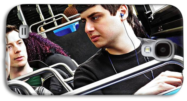 Young Man Photographs Galaxy S4 Cases - Young Men on the M4 Bus Galaxy S4 Case by Sarah Loft