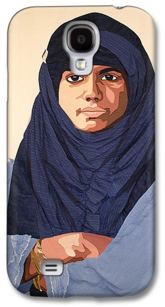 Portraits Tapestries - Textiles Galaxy S4 Cases - Young Muslim Woman Galaxy S4 Case by Patt Tiemeier