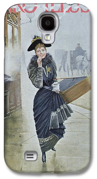Street Drawings Galaxy S4 Cases - Young Parisian Hatmaker Galaxy S4 Case by Jean Beraud