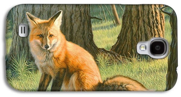 Red Fox Galaxy S4 Cases - Young Red Galaxy S4 Case by Paul Krapf
