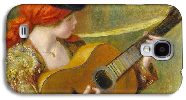Young Spanish Woman With A Guitar Galaxy S4 Case by Pierre Auguste Renoir