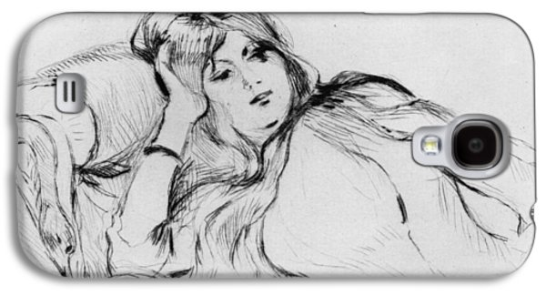 Drypoint Galaxy S4 Cases - Young woman at rest Galaxy S4 Case by Berthe Morisot