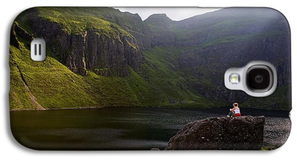 Landscapes Photographs Galaxy S4 Cases - Young Woman Meditating, Coumshingaun Galaxy S4 Case by Panoramic Images