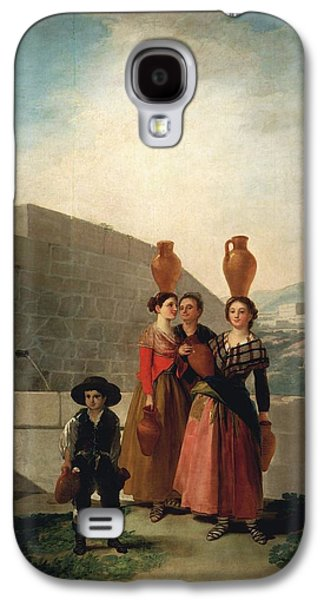 Old Pitcher Paintings Galaxy S4 Cases - Young Women with Pitchers Galaxy S4 Case by Francisco Goya