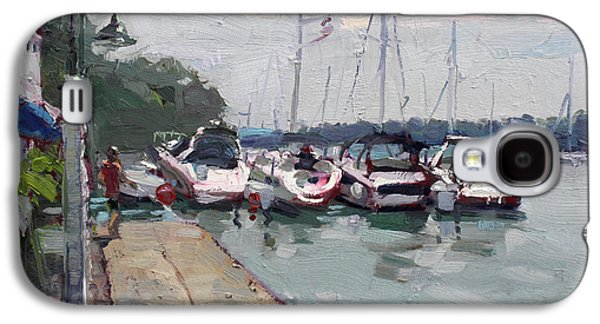 Harbor Paintings Galaxy S4 Cases - Youngstown Yachts Galaxy S4 Case by Ylli Haruni