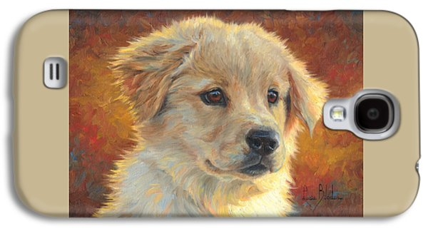 Dog Paintings Galaxy S4 Cases - Youth Galaxy S4 Case by Lucie Bilodeau