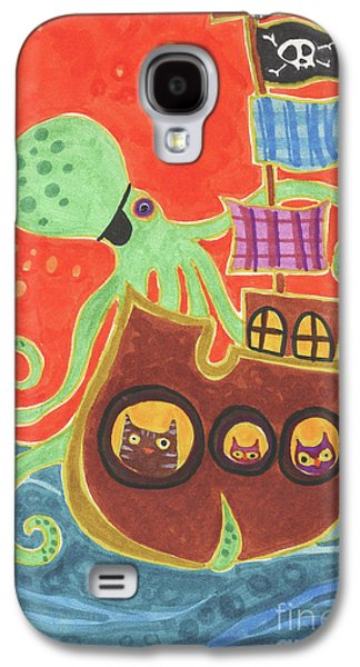 Pirate Ship Galaxy S4 Cases - Youve Been Pirated Galaxy S4 Case by Kate Cosgrove