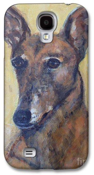 Retired Racer Dog Portrait. Galaxy S4 Cases - YoYo Jones Galaxy S4 Case by Diane Hagg