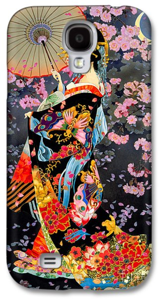 Vertical Digital Art Galaxy S4 Cases - Yozakura Galaxy S4 Case by Haruyo Morita
