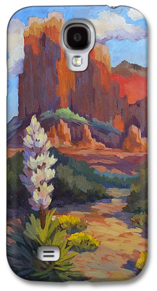 Cathedral Rock Galaxy S4 Cases - Yucca at Sedona Galaxy S4 Case by Diane McClary