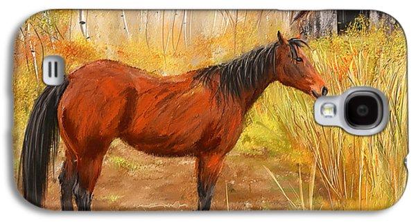 Kentucky Derby Galaxy S4 Cases - Yuma- Stunning Horse in Autumn Galaxy S4 Case by Lourry Legarde