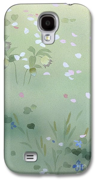 Purple Robe Galaxy S4 Cases - Yumezakura Crop Galaxy S4 Case by Haruyo Morita