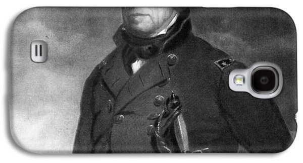 Politics Paintings Galaxy S4 Cases - Zachary Taylor Galaxy S4 Case by Eliphalet Frazer Andrews