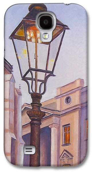 Night Lamp Paintings Galaxy S4 Cases - Zagreb Gaslight - Croatia Galaxy S4 Case by Jan Matson