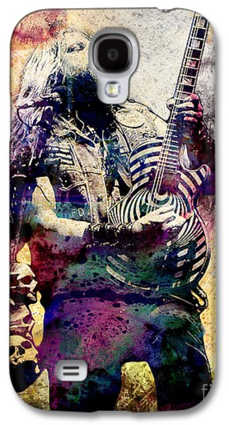Rock N Roll Paintings Galaxy S4 Cases - Zakk Wylde - Ozzy Osbourne  Galaxy S4 Case by Ryan RockChromatic