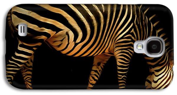 Zebra Digital Art Galaxy S4 Cases - Zebra 20150210brun Galaxy S4 Case by Wingsdomain Art and Photography