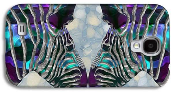 Abstract Digital Art Galaxy S4 Cases - Zebra 5 Galaxy S4 Case by Jack Zulli