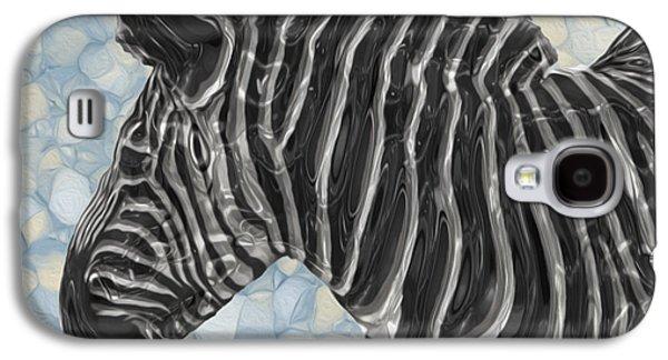 Zebra Digital Art Galaxy S4 Cases - Zebra 6 Galaxy S4 Case by Jack Zulli