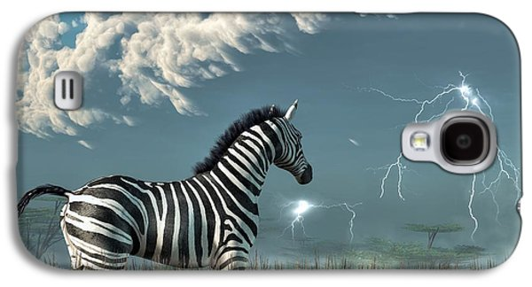 Tempest Galaxy S4 Cases - Zebra and Approaching Storm Galaxy S4 Case by Daniel Eskridge