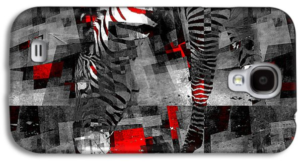 Variants Galaxy S4 Cases - Zebra Art - 56a Galaxy S4 Case by Variance Collections