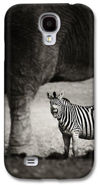 See Galaxy S4 Cases - Zebra barking Galaxy S4 Case by Johan Swanepoel