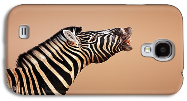 Making Galaxy S4 Cases - Zebra Calling Galaxy S4 Case by Johan Swanepoel
